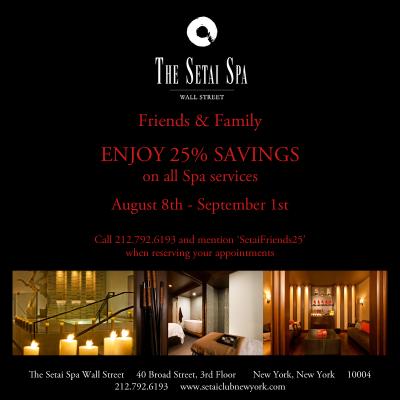 25% Off At The Setai Spa