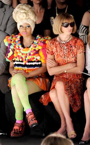 Nicki Minaj Sitting Next To Anna Wintour At Carolina Herrera