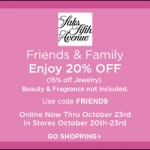 Saks Friends & Family Discount Code