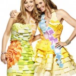 Romy And Michele Rock Post-it Dresses