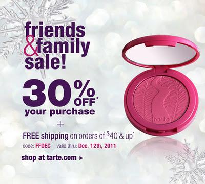 Tarte Friends & Family Discount