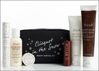 Your New Obfreshion: Clicquot In The Snow Beauty Survival Kit
