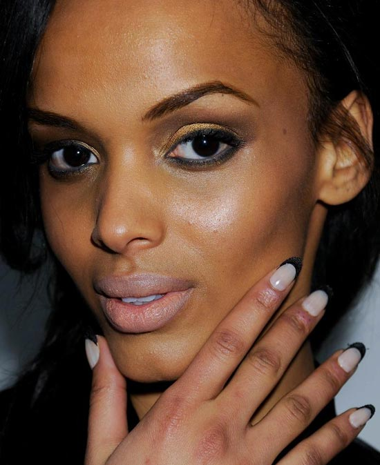 Fashion Week Fall 2012 Beauty Trends: Shellacked Shapes, Nude Nails, Micro-braids