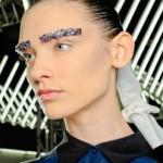 Paris Fashion Week Fall 2012 Beauty Update: Glittering Eyebrows At Chanel
