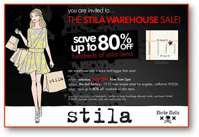 Stila Warehouse Sale In Los Angeles