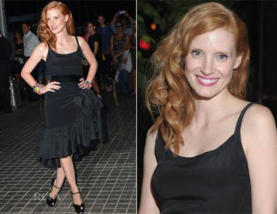 Get The Look: Jessica Chastain's Hairstyle At The 'Lawless' Screening