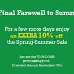 Yoox.com Spring-Summer Sale