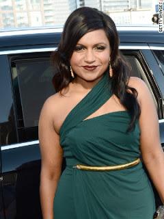 Mindy Kaling's Hairstyle & Makeup: 2012 Emmys