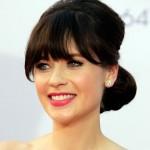 Zooey Deschanel's Hairstyle: 2012 Emmys