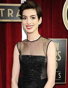 SAG Awards Hairstyle: Anne Hathaway