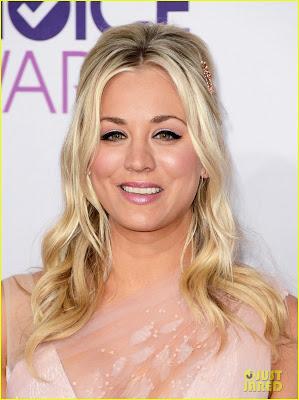 Kaley Cuoco's Makeup At The People's Choice Awards 2013