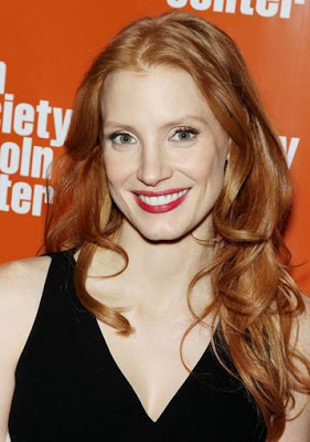 Jessica Chastain: Hairstyle At The Film Society At Lincoln Center