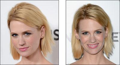 Hairstyle: January Jones At The 'Mad Men' Sixth Season Premiere