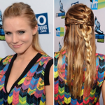 Kristen Bell's Braided Half-up Hairstyle How-to