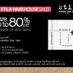 Stila Warehouse Sale This Weekend In Los Angeles