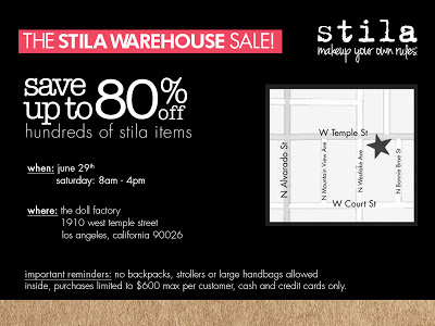 Stila Warehouse Sale This Weekend In Los Angeles