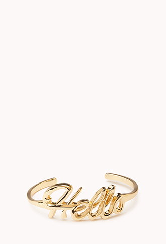BUY: Forever 21 Hello Cuff