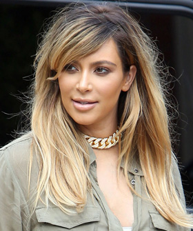 Kim Kardashian's New Blonde Hair