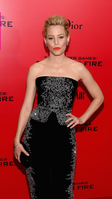 Hairstyle: Elizabeth Banks At The Hunger Games: Catching Fire New York City Premiere