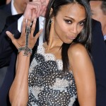 Hairstyle: Zoe Saldana At The 2013 American Music Awards