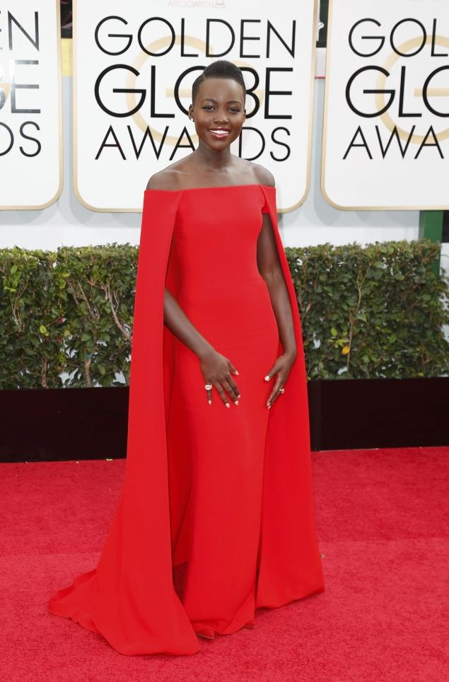 Get The Golden Globes Look: Lupita Nyongo's Hair & Nails