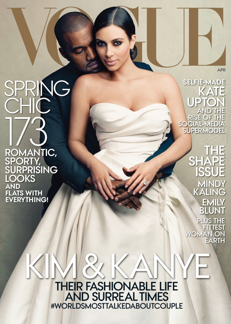 Kim Kardashian And Kanye West's Vogue Cover
