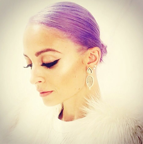 The Scoop On Nicole Richie's Perfectly Purple 'Do