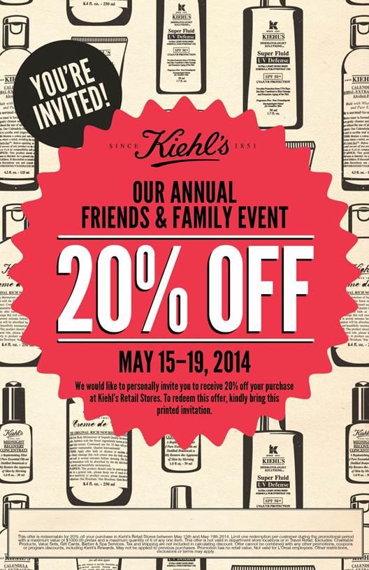 Kiehl's Friends & Family Sale: 20% Off