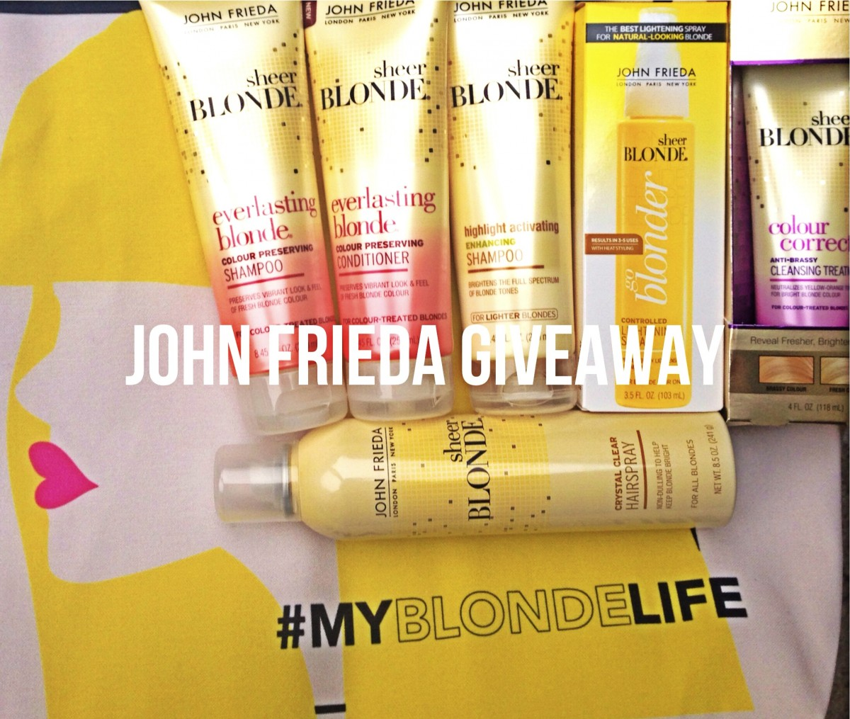 John Frieda Tote Bag + Product Giveaway