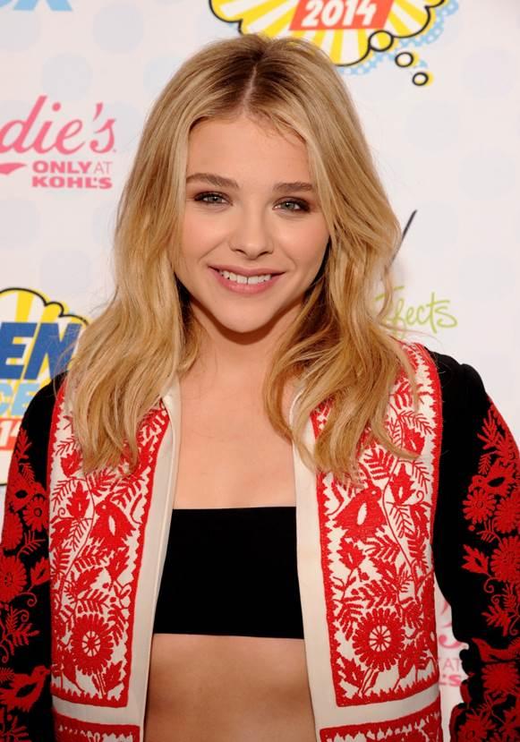 Makeup: Chloe Moretz At The Teen Choice Awards 2014