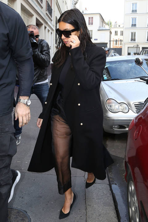 You Won't Believe Kim Kardashian's Hair Situation In Paris