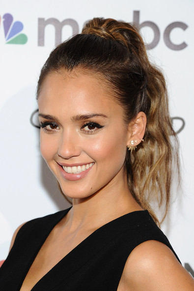 Jessica Alba's 2014 Global Citizen Festival Hairstyle & Makeup
