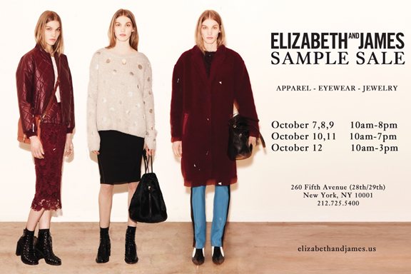Elizabeth & James Sample Sale