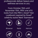 Dove Hair Partners With Priv