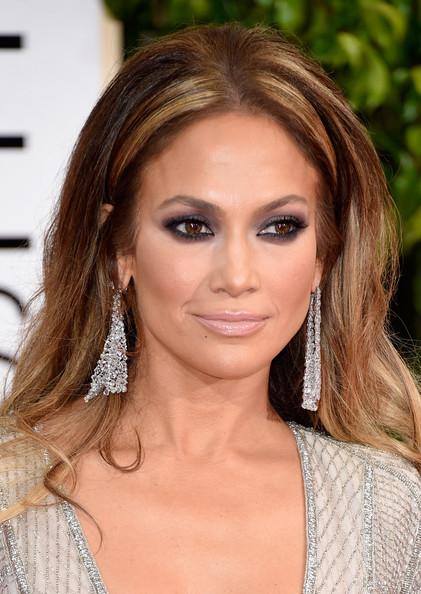 2015 Golden Globes Makeup & Hair: Jennifer Lopez