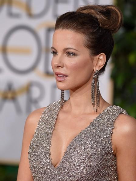 2015 Golden Globes Hair & Makeup: Kate Beckinsale