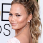 The Secret To Chrissy Teigen's Pert Pony At The 2015 Golden Globes