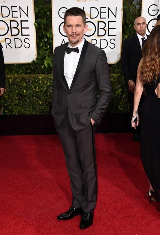 Golden Globes 2015 Grooming: Ethan Hawke