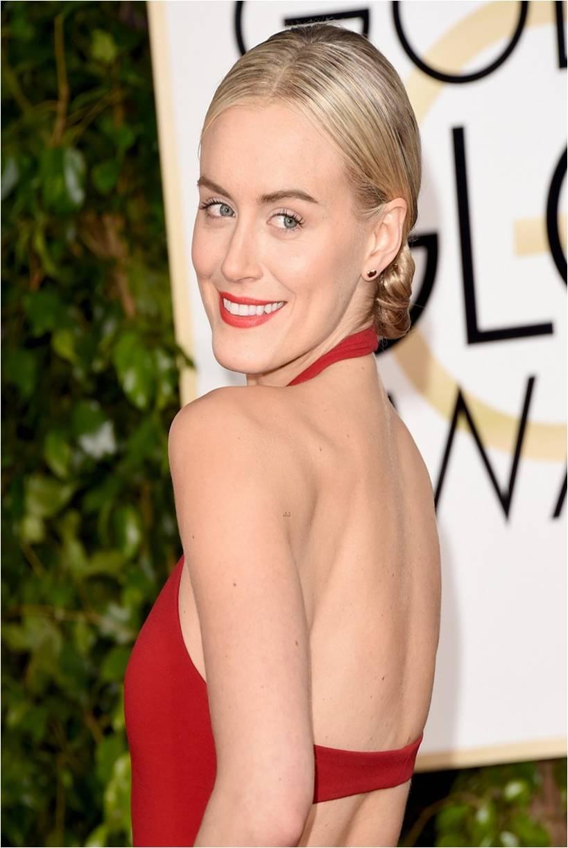 Taylor Schilling Serves Grace Kelly Realness At The Golden Globes