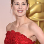 The Secret To Rosamund Pike's Undercut Updo & Creamy Neutral Lip Look