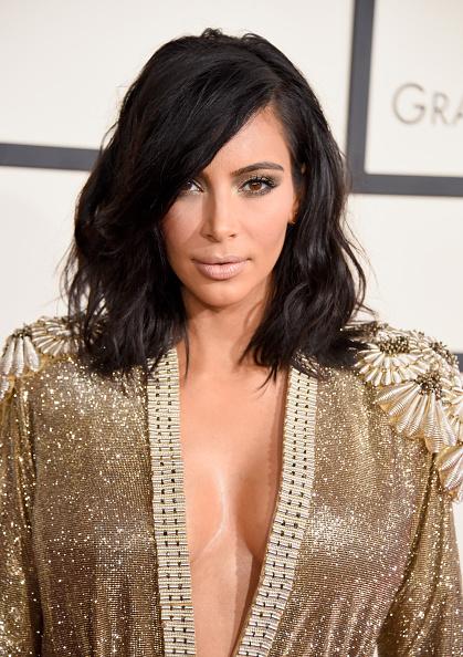 The Trick To Kim Kardashian's Grammys 2015 Hair & Makeup