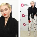 Miley Cyrus' Marvelous Makeup For Elton John's AIDS Foundation Academy Awards Viewing Party
