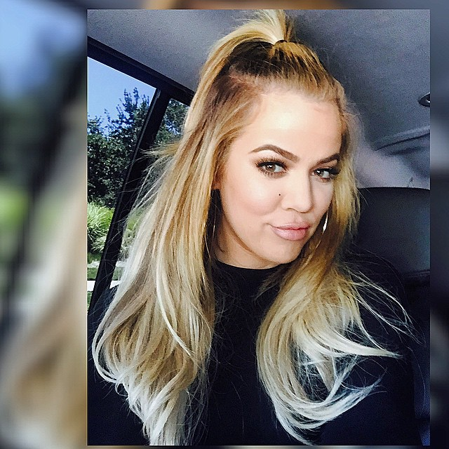 FYI, Khloe Kardashian Is Super Blonde Now