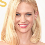 January Jones' Disco-era Glamorous Makeup Look