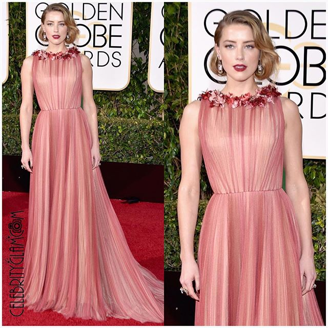 You And I Both Know You Need To Know About Amber Heard's Golden Globes Lip