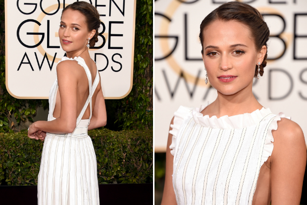 The Trick To Alicia Vikander's Fresh, Dewy Golden Globes Skin