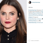 The Trick To Keri Russell's Dramatic Lip & Clean Eye Combo