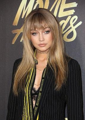 The Trick To Gigi Hadid's Donatella Versace Moment At The MTV Movie Awards