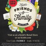 Kiehl's Friends And Family Code