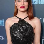 The Trick To Emma Stone's Super Shiny Lob Look
